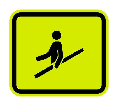 PPE Icon.Use Handrail Symbol Sign Isolate On White Background,Vector Illustration Illustration