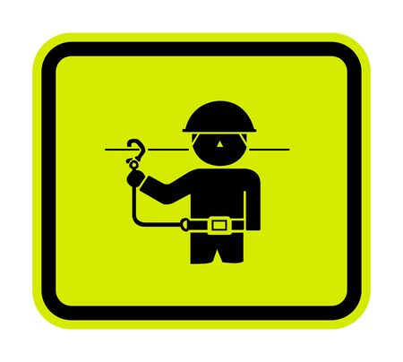 PPE Icon.Use Safety Belts Symbol Sign Isolate On White Background,Vector Illustration EPS.10