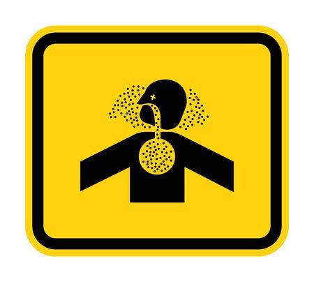 Toxic Gases Asphyxiation Symbol Sign Isolate on White Background,Vector Illustration Çizim
