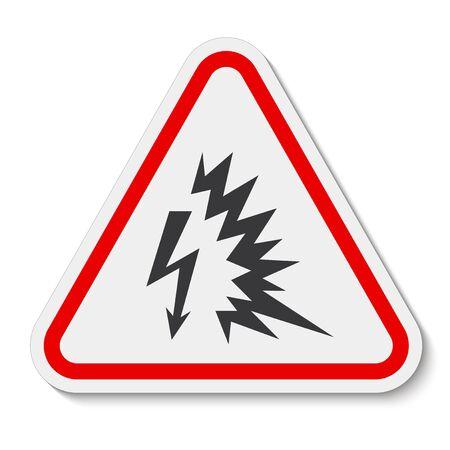 Arc Flash Symbol Zeichen isolieren auf weißem Hintergrund, Vektor-Illustration EPS.10 Vektorgrafik