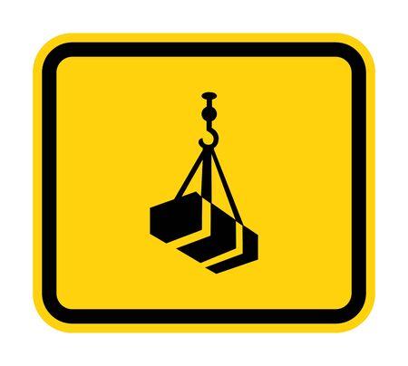 Beware Overhead Load Symbol Isolate On White Background,Vector Illustration Vektoros illusztráció