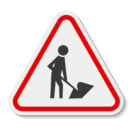 Men At Work Symbol Sign Isolate on White Background,Vector Illustration Ilustración de vector