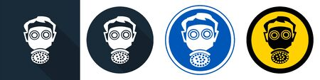 Symbol wear respirator protection Sign Isolate on White Background,Vector Illustration EPS.10