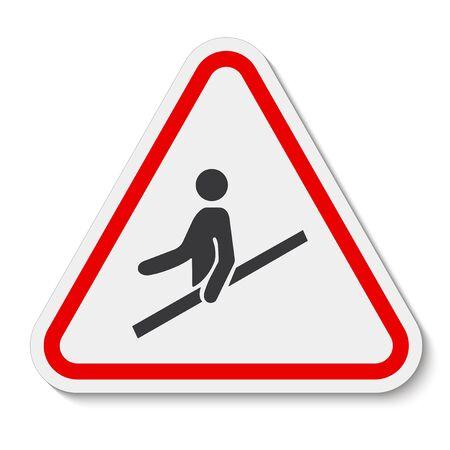 Icono de PPE. Utilice el símbolo de la barandilla aislar sobre fondo blanco, ilustración vectorial