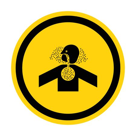 Toxic Gases Asphyxiation Symbol Sign Isolate on White Background,Vector Illustration