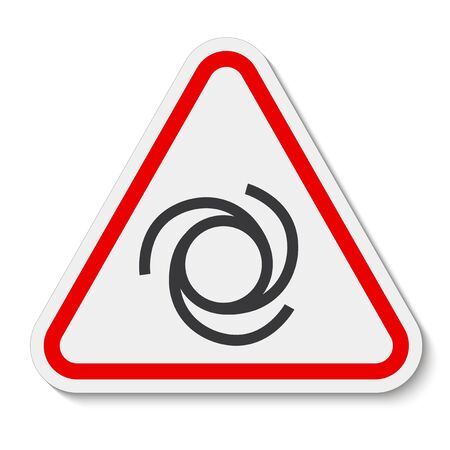 Beware Automatic Start-Up Symbol Sign Isolate On White Background,Vector Illustration EPS.10