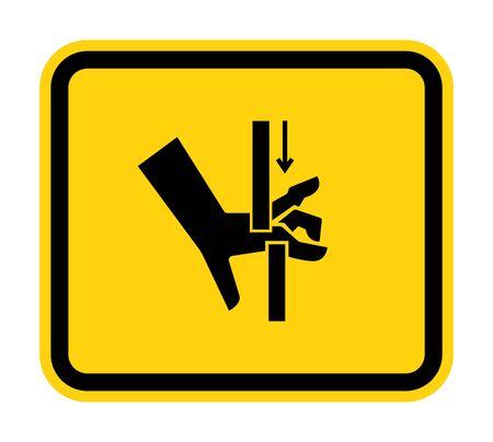 Hand Crush Moving Parts Symbol Sign, Vector Illustration, Isolate On White Background Label .EPS10  Illustration