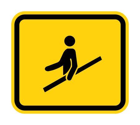 PPE Icon.Use Handrail Symbol Sign Isolate On White Background, Vector Illustration Illustration
