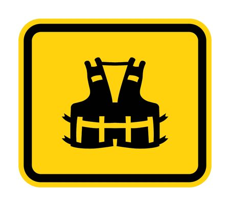 PPE Icon.Wearing a life jacket for safety Symbol Sign Isolate On White Background,Vector Illustration EPS.10