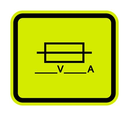 Fuse (Writable) Symbol Sign Isolate On White Background, Vector Illustration Çizim