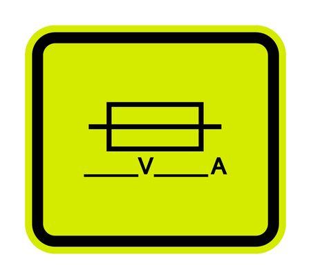 Fuse (Writable) Symbol Sign Isolate On White Background, Vector Illustration Ilustração