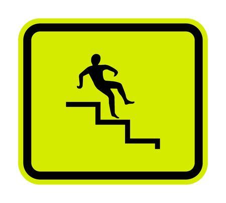 Beware Step Symbol Isolate On White Background, Vector Illustration