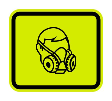 Symbol Wear Respirator sign Isolate On White Background,Vector Illustration EPS.10
