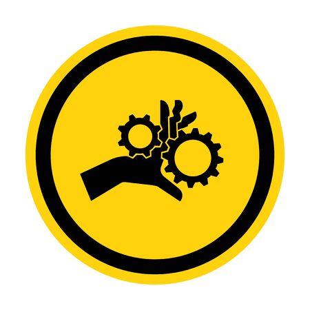 Hand Entanglement Rotating Gears Symbol Sign Isolate On White Background,Vector Illustration EPS.10  Illustration