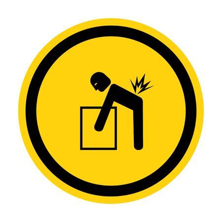 Lifting Hazard Symbol Sign Isolate On White Background, Vector Illustration  イラスト・ベクター素材