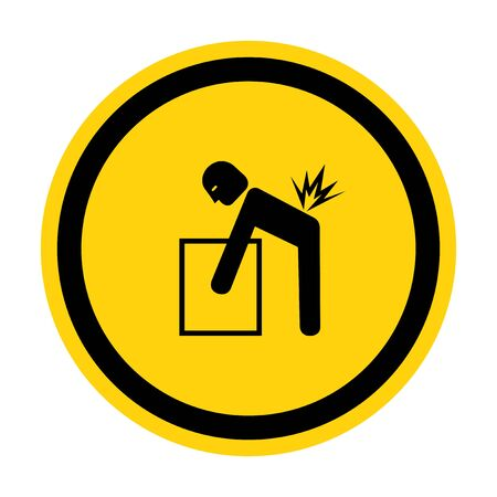 Lifting Hazard Symbol Sign Isolate On White Background, Vector Illustration Illustration