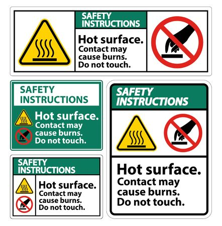 Safety Hot Surface Do Not Touch Symbol Sign Isolate on White Background, Vector Illustration Stock Illustratie