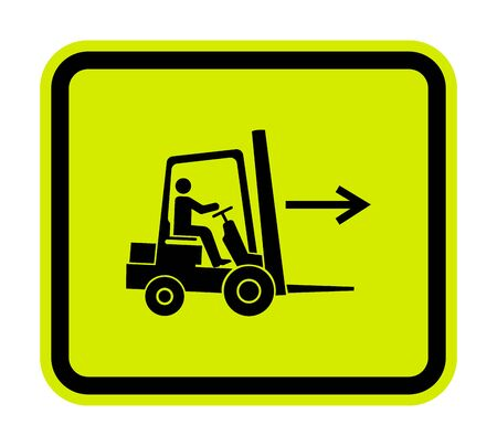 Forklift Point Right Symbol Sign Isolate On White Background, Vector Illustration Vettoriali