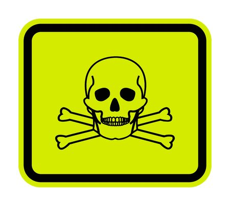 Toxic Material Symbol Sign Isolate On White Background,Vector Illustration EPS.10 Reklamní fotografie - 137032526