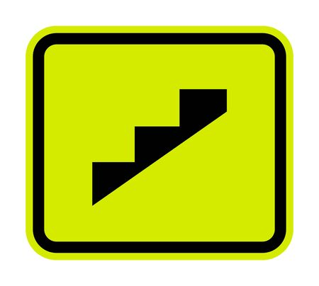 Beware Slope Step Symbol Isolate On White Background, Vector Illustration