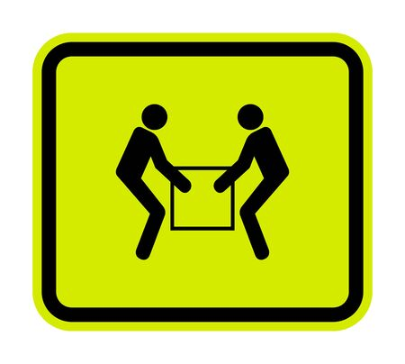 Use Two Person Lift Symbol Sign  Isolate On White Background, Vector Illustration  イラスト・ベクター素材