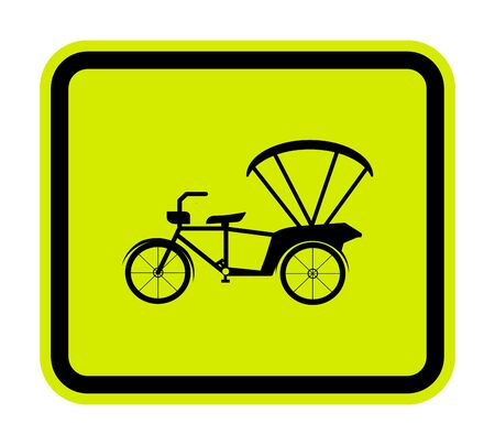 Beware Tricycle Symbol Sign Isolate On White Background,Vector Illustration EPS.10  Illustration