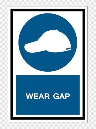 Wear Gap Symbol Sign Isolate on transparent Background,Vector Illustration