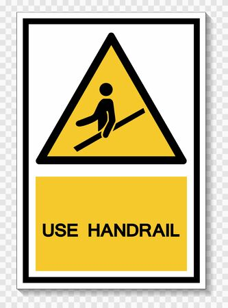 Use Handrail Symbol Sign Isolate On White Background,Vector Illustration