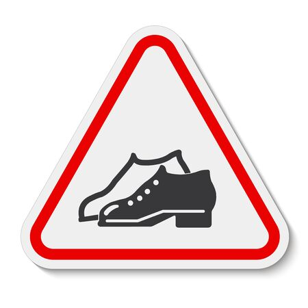 Symbol Enclosed Shoes Are Required In The Manufacturing Area sign Isolate On White Background,Vector Illustration EPS.10  Illustration