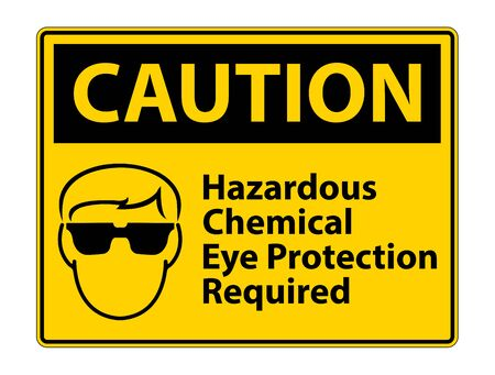 Hazardous Chemical Eye Protection Required Symbol Sign Isolate on White Background
