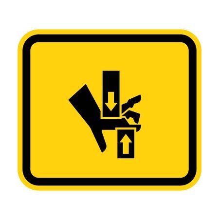 Crush Hand Top Bottom Symbol Sign Isolate on White Background,Vector Illustration