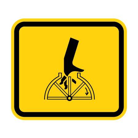 Hand Entanglement Rotating Symbol Sign Isolate On White Background,Vector Illustration EPS.10