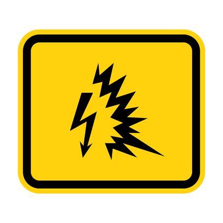 Arc Flash Symbol Sign Isolate On White Background,Vector Illustration EPS.10 Vector Illustration