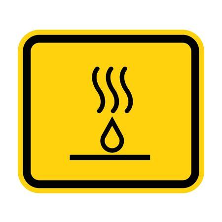 Hot Liquids Symbol Sign Isolate On White Background,Vector Illustration EPS.10 Ilustracja