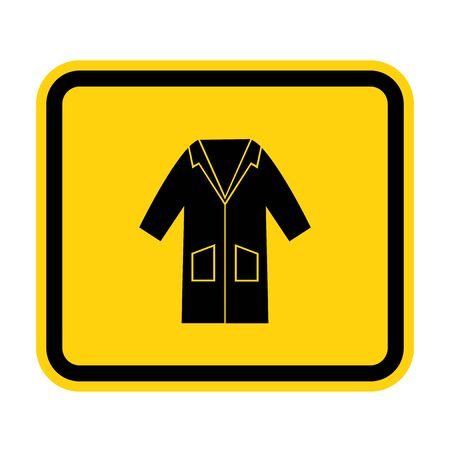 PPE Icon.Wear Smock Symbol Sign Isolate On White Background,Vector Illustration EPS.10 Illustration