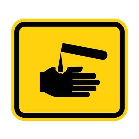 Beware Corrosives Symbol Isolate On White Background,Vector Illustration EPS.10 Ilustracja