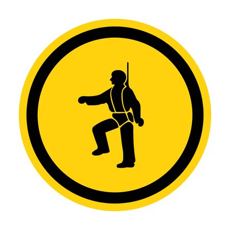 PPE Icon.Safety Harness Must Be Worn Symbols Sign Isolate On White Background,Vector Illustration EPS.10  Illusztráció