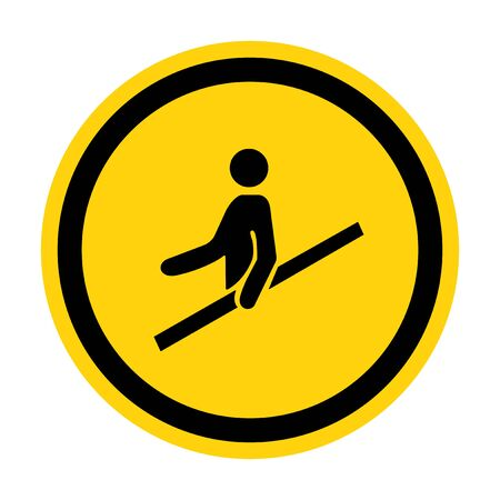 PPE Icon.Use Handrail Symbol Sign Isolate On White Background,Vector Illustration EPS.10