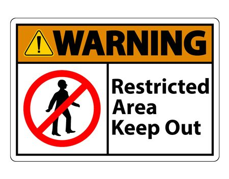Restricted Area Keep Out Symbol Sign On White Background  Illustration