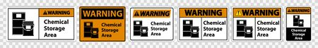 Warning Chemical Storage Symbol Sign Isolate on transparent Background,Vector Illustration
