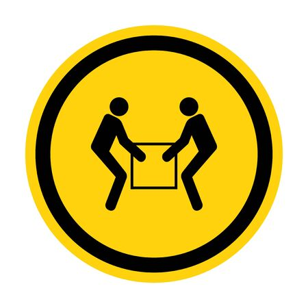 Use Two Person Lift Symbol Sign  Isolate On White Background,Vector Illustration EPS.10 Foto de archivo - 140321797