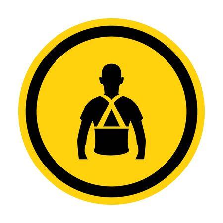 Wear Back Support Symbol Sign Isolate On White Background,Vector Illustration EPS.10  Ilustrace