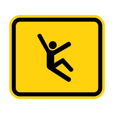 Climb Hazard Symbol Sign Isolate On White Background, Vector Illustration Ilustração