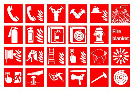 Symbol Emergency Fire Alarm Sign Isolate On White Background,Vector Illustration Vector Illustratie