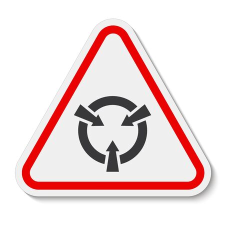 Electrostatic Sensitive Device (ESD) Symbol Sign Isolate On White Background,Vector Illustration EPS.10