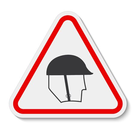 Symbol Wear Head Protection Sign Isolate On White Background,Vector Illustration EPS.10