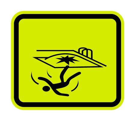 Fall Hazard Symbol Sign Isolate on White Background, Vector Illustration
