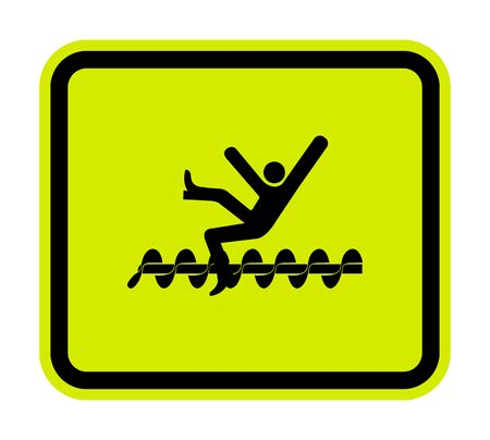Warning Exposed Rotating Parts Will Cause Service Injury Or Death Symbol Sign Isolate on White Background, Vector Illustration Ilustração