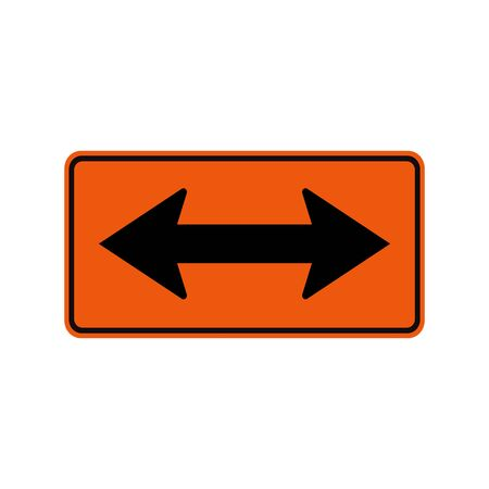 Go Left Or Right By the Arrows Symbol Sign Isolate on White Background, Vector Illustration Ilustração