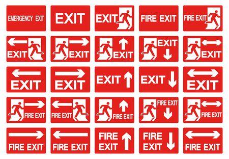 Emergency Exit Symbol Isolate On White Background,Vector Illustration